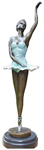 Skrivbordsskulptur Ballerinaskulptur, Hantverksmodell Dekorativ konst Bronsskulptur Dansande konstnär Bostads trädgård Utomhusinredning Dekorationer