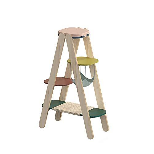 ZWJ-Katzenbaum Cat Klettergerüst Leiter Klettersäule Cat Springen Plattform Holz Kombination Klettergerüst Cat Litter Verkratzen Säule