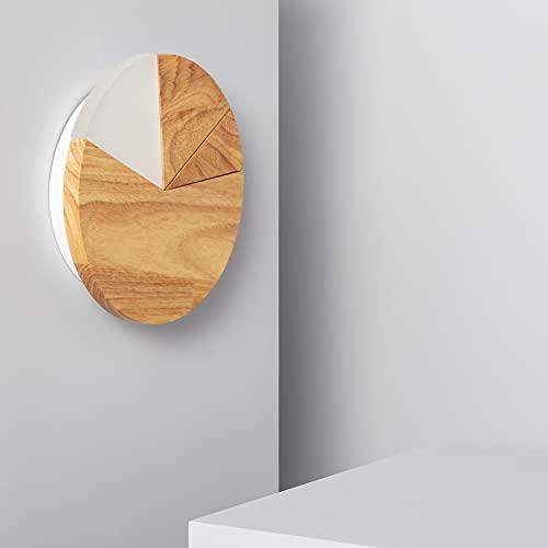 LEDKIA LIGHTING Applique Murale LED Farmaajo 18W 220x220x40 mm Bois Bois pour Décoration Salon, Chambre, Cuisine