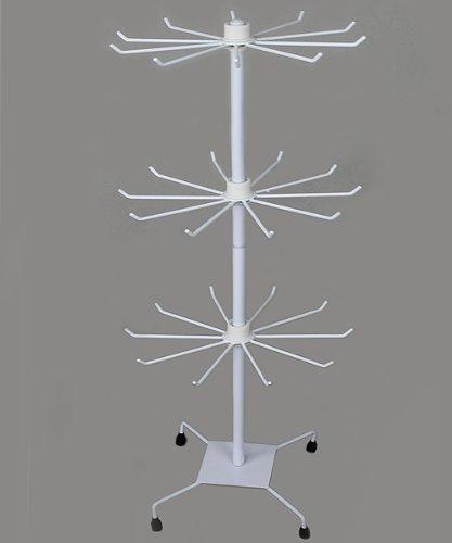 Espositore con 3 ripiani in metallo, 73 cm, bianco