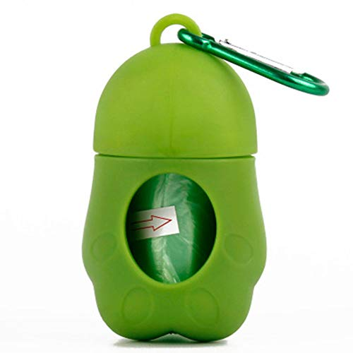 Metermall Hot for Pet Dog Dispenser Poop Bag Set Garbage Bags Carrier Holder Animal Waste Picker Cleaning Tools for Outdoor green