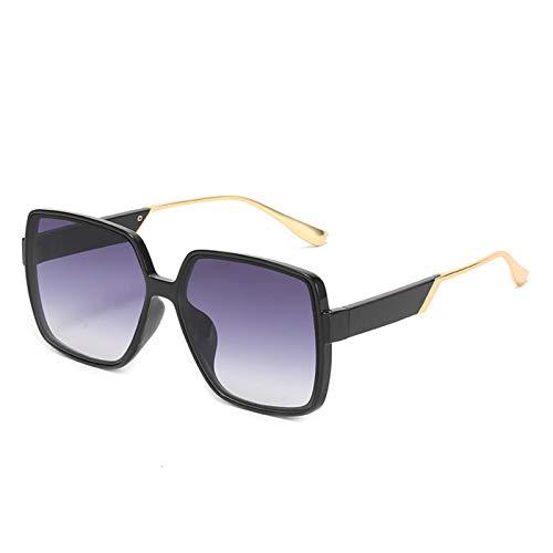 AMFG Caja de sol gafas de sol europeo y americano Metal de metal gafas femenino masculino red celebridad ancla gafas de sol hembra al aire libre viaje sombrilla (Color : E)