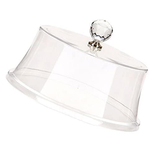Cabilock Soporte de Pastel Cubierta de Vidrio Desierto Cloche Cubierta de Pastel Bandeja de Aperitivos Exhibición Redonda de Pastel de Servir Ponchero Tienda de Comida