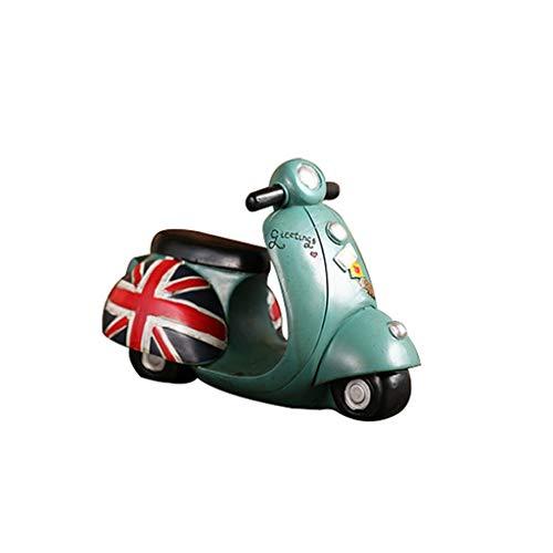 Aveo Hucha Hucha Estilo británico Resina Pintada a Mano Motocicleta Hucha Regalo for niños Decoración Dormitorio Creativo Sala de Estar alcancía (Color : Blue)
