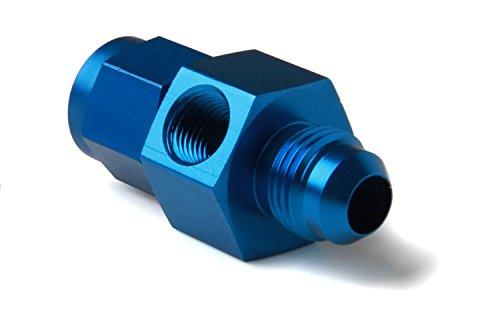NOS 16103 Blue Anodized Aluminum Nitrous Bottle Gauge Adapter