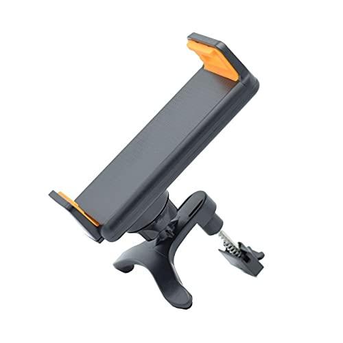 ZJF Soporte de Soporte de ventilación de Aire de Aire Giratorio de 360 Grados Compatible con Tableta de teléfono GPS 4-10 Pulgadas (Color : Black)