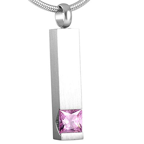 KBFDWEC Botella de Perfume Joyería de cremación de Aceite Esencial en Collares Pendientes Diseño clásico de Cristal cúbico Brillante para Mujer
