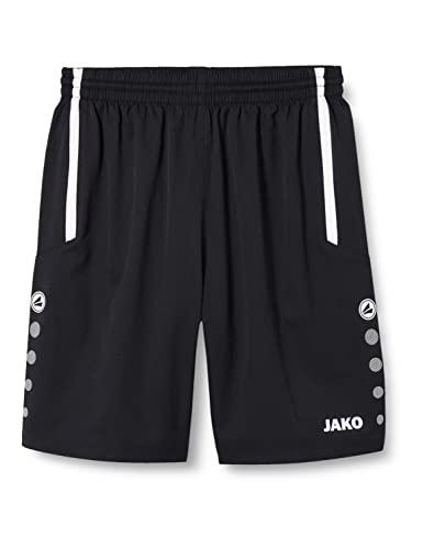 JAKO Turin Shorts de randonnée Homme, Noir/Blanc, XL