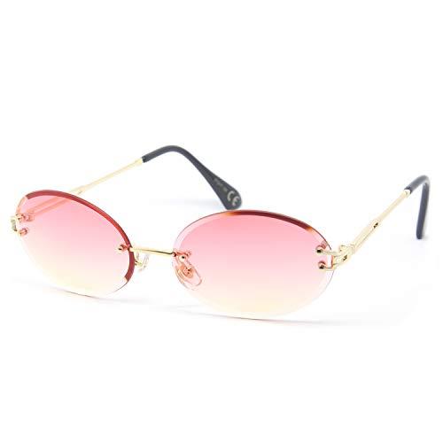 SY SEEYOU gafas de sol cristal transparente ovalado rosa M