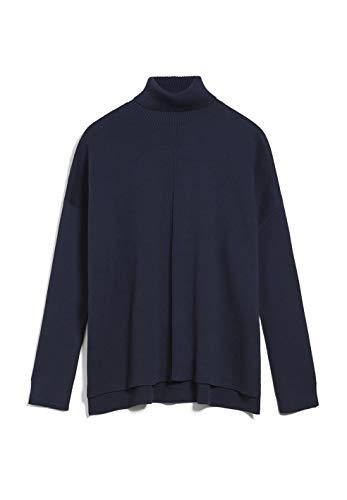 ARMEDANGELS AYAKAA - Damen Pullover aus Bio-Baumwolle L Night Sky Strick Pullover Loose fit