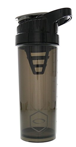 Cyclone Cup - Shaker Bottle For Powder, Protein Shaker With Secure-Lock And Tight-Sealed Lid For 'No Leak' Protection Black
