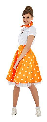 Falda de discoteca con pañuelo para disfraz de Fifties – Vestido de fiesta Rockabilly – Muchos colores