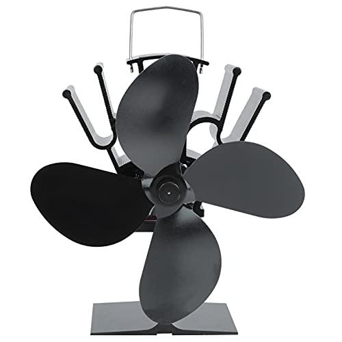 Ventilador de estufa, ventilador de calor para chimenea, fuente de alimentación térmica más segura Ventilador de estufa de calor, ventilador de quemador de leña, cómodo para chimeneas para