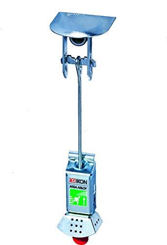 IKON Gitterrostsicherung 8173 - mit Panikfunktion - Sicherung für Lichtschacht bzw. Kellerschacht - 2 Stück im Set