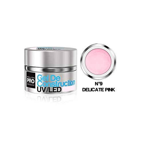 Construcción gel UV / LED Mollon Pro 15ml delicado rosa - 09