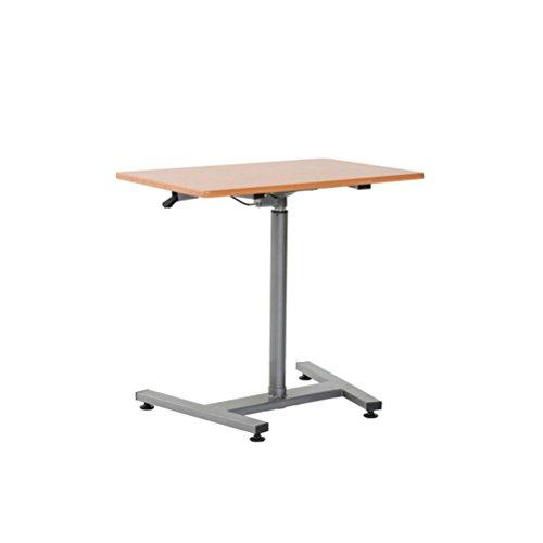 Bureau mobile d'étude mobile, petit bureau d'ordinateur, bureau avec des roues pour le lit ou le sofa, panneau en bois à haute densité + tuyau en acier, taille réglable (72~110cm)