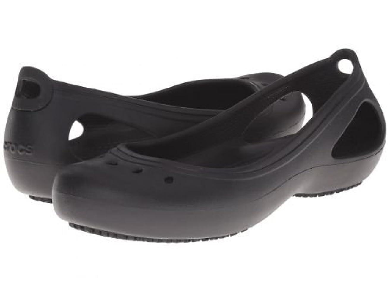 ファンブルデコラティブ最初は[クロックス] レディース 女性用 シューズ 靴 フラット Kadee Work Flat - Black [並行輸入品]