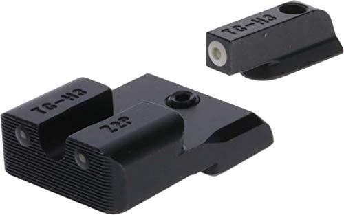 TRUGLO Tritium Pro Glow-in-The-Dark Handgun Night Sights for CZ Pistols, CZ P10, White Ring