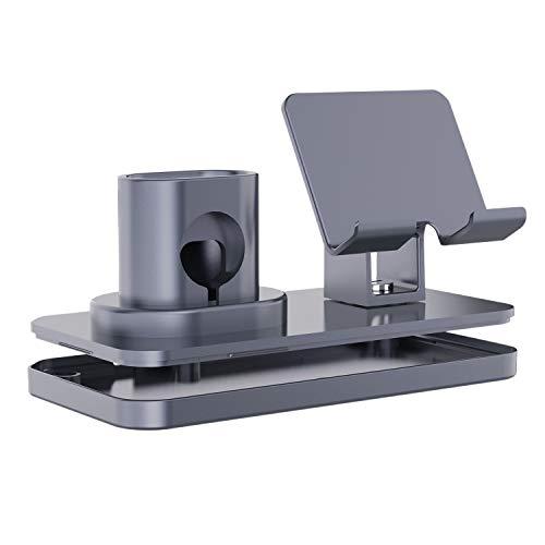 Gaoominy Soporte de carga 3 en 1 para reloj serie de escritorio, color negro