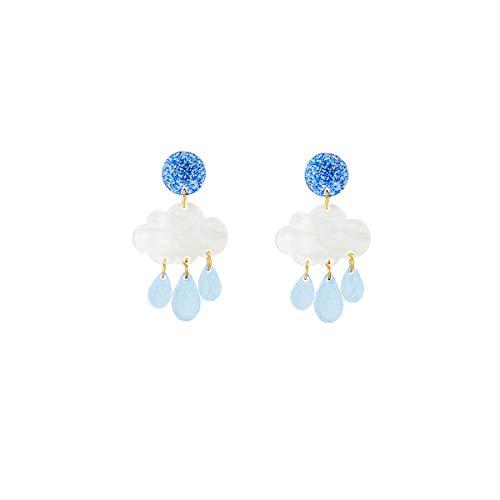 Earrings Gifts for Her Acrylic Earrings Clouds and Raindrops Earrings Cute Tassel Dangle Earrings Gifts for Women Girls