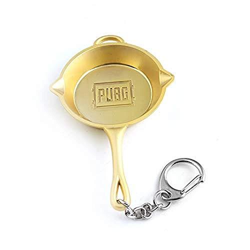 BMGFEW Schlüsselanhänger Exquisite neueste Champion Topf Pfanne Exquisite Schlachtfeld Anhänger Exquisite Autotasche Schlüsselring Männer und Frauen