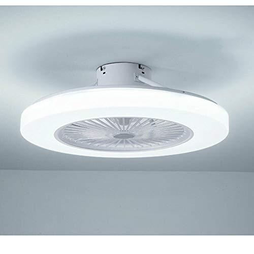 Ventilador de techo LED de 36 W, con iluminación y mando a distancia, regulable, creativa, lámpara de techo moderna para salón, comedor, dormitorio[Clase de eficiencia energética: A+++]