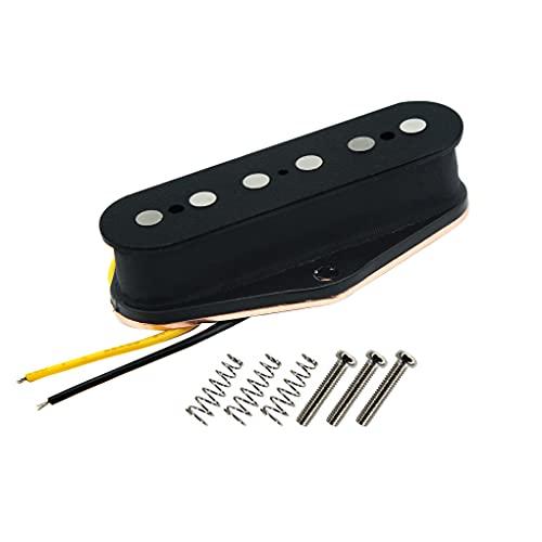 FLEOR Pastillas de puente de guitarra de pastilla de bobina simple negra...