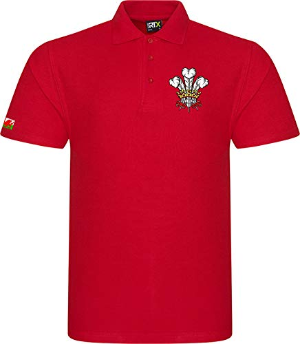 Super Lemon Wales Welsh Cymru Adults Rugby Exclusive Retro Vintage Mens Womens Unisex Red Polo Shirt, Great for Any Welsh Rguby Fans for 6 Nations and World Cup Available Upto 7XL (4XL)