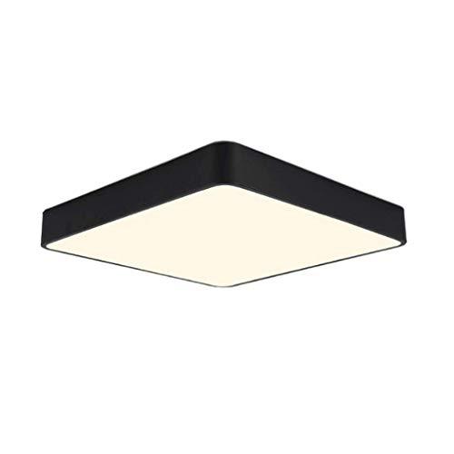 JIAHONG Plafonnier LED Carré De Style Européen, Éclairage De Jardin D'enfants Couleur Chambre (Color : Black-40cm)