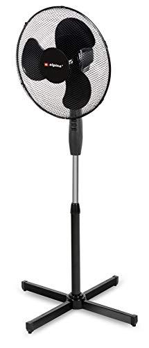 Alpina - staande ventilator - 40cm - zwart - 40W