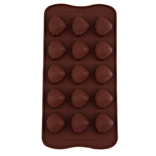 Review Of 5pcs Shell Shape Silicone Mould Cake Fondant Madeleine Mould Chocolate Candy Jelly Ice-cube Moulds