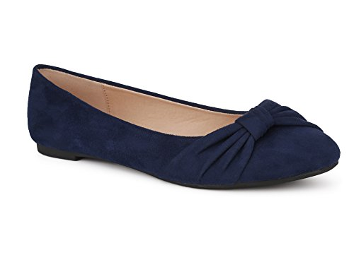 MaxMuxun Klassische Damen Ballerinas Party Schuhe Schleife Freizeit Schuhe Dunkelblau Blau Größe 38 EU