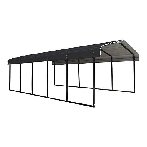 Arrow Shed 12 x 24 x 7-Foot Heavy Duty Galvanized Steel Metal Multi-Use Shelter, Shade, Carport, 12'...