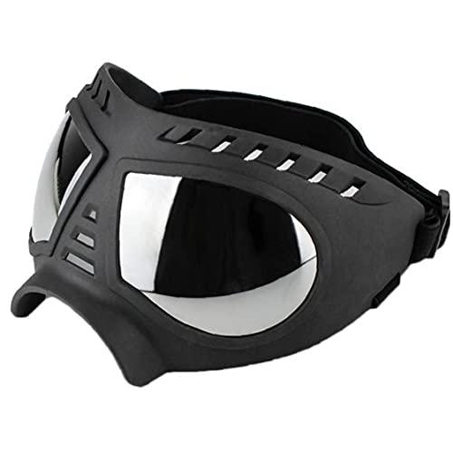 Ruluti Perro Fresco Gafas de Sol de protección UV a Prueba de Viento Gafas Desgaste del Animal doméstico Mediano Grande para Perros de natación Patinaje Gafas Accessaries