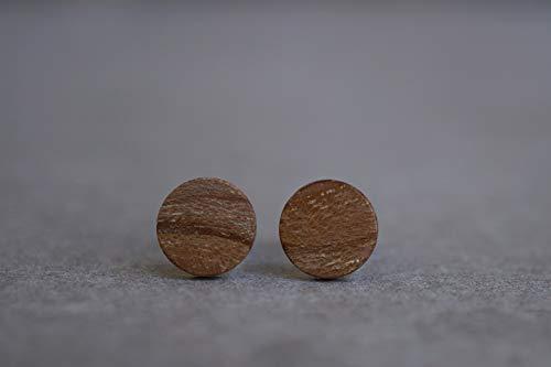 Holzohrstecker aus Kiwiholz handgemacht // 8 mm // Holzohrringe // Ohrstecker Holz // Holz Ohrstecker // Ohrringe Holz // Holzschmuck