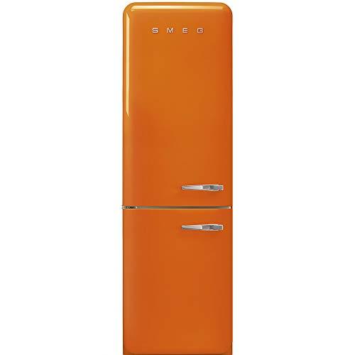 Réfrigérateur combiné Smeg FAB32LOR3 - Réfrigérateur congélateur bas - 331 litres - Réfrigerateur/congel : Froid brassé / No Frost - Dégivrage automatique - Orange - Classe A+++ / Pose libre