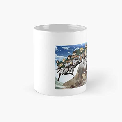 Attack The Titans Classic Mug - 11 Ounce For Coffee, Tea, Chocolate Or Latte.