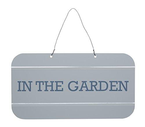 KitchenCraft Living Nostalgia Garden Sign, Grey/Blue, 30 x 16 cm