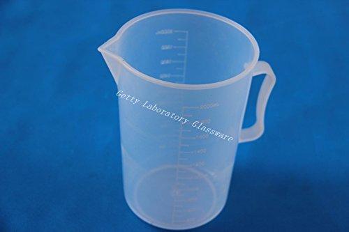 2000ml 2Litros de PVC Medición Graduado de plástico transparente Vaso de plástico...