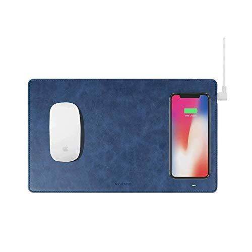 GAZEPADPROマウスパッドQi無線充電ワイヤレス充電iPhoneX/XS/XSMAX/iPhone8(ネイビ)