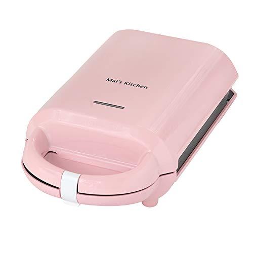 APPLL Sandwich Toaster, 2-In-1 Abnehmbare Antihaft-Beschichtung Edelstahl-Elektro-Waffeln Maker Den Haushalt Brotback Maker,Rosa