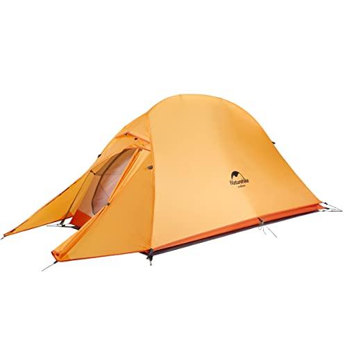 Naturehike Cloud up Tenda da Escursionismo per 1 Persona Tenda da Campeggio Leggera per Escursionismo a Cupola per 1 Uomo(Arancia Aggiornare 210T)