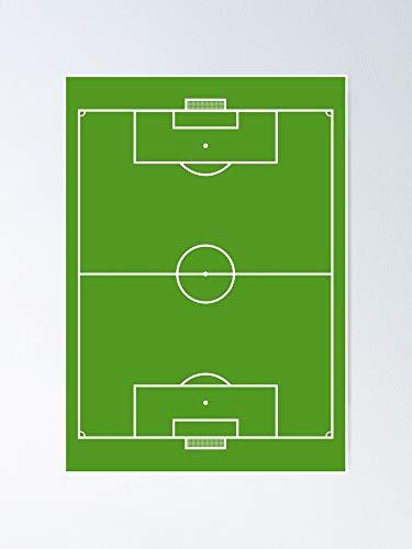 AZSTEEL Póster de campo de fútbol 11.7 x 16.5