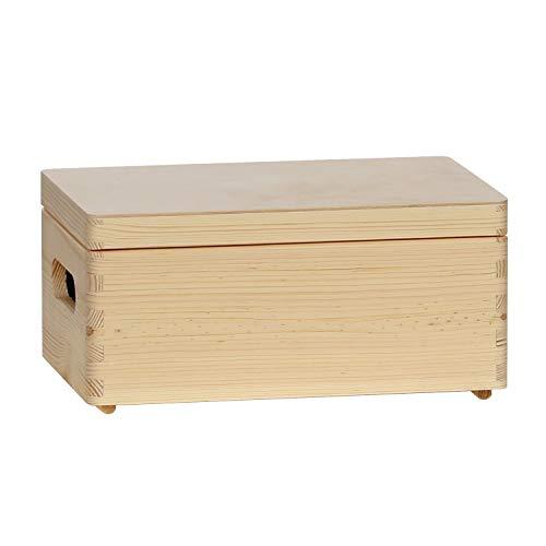 Bütic Allzweckkiste, Holzbox, Holzkiste stapelbar mit und ohne Deckel in div. Größen, Artikelgröße:Kiste mit Deckel 30 x 20 x 14 cm
