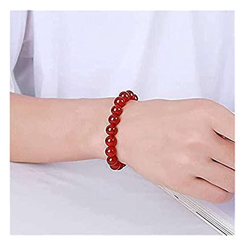 TYJH Red Agate Bracelet, Varicose Relieve Vein Anklet, Yoga Chakra Reiki Balancing Bracelets, Body Cleansing Bracelet (6MM X 2)