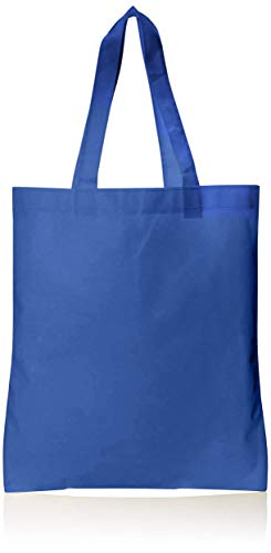 Non-Woven Polypropylene Tote Bags in Bulk - 50 Pack - Wholesale Convention Tote Bags, Promotional Tote Bags, Used as DIY Masks Fabric - 13x15