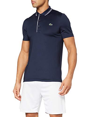 Lacoste Sport Herren DH6843 Poloshirt, Marine/Marine-Blanc, L