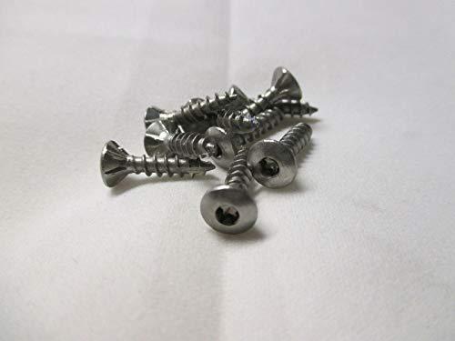 HMH - Tornillos para aglomerado (100 unidades, 3,5 x 16 mm, Torx, acero inoxidable, A4)