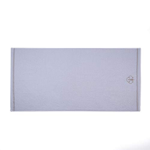 SAHARA MAISON - Hand Towel White 100% Turkish Real Cotton | 600 GSM | Quick Drying Towels and Bath Towel Set, Supersoft Towel Set for Bathroom - (Daisy White with Logo) (1.50 x 90 cm)