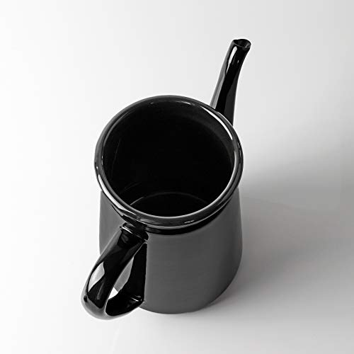 【BLKP】 パール金属 ミニ ホーロー ドリップポット 1.1L 限定 ブラック 琺瑯 コーヒー ポット BLKP 黒 AZ-5012